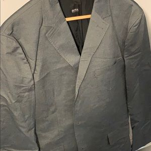 BOSS Hugo Boss Gray Pinstripe Suit Jacket